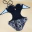 พร้อมส่ง ชุดว่ายน้ำวันพีซโมโนกินี่ One piece Monokini เว้าเอว เว้าหลังลึกเซ็กซี่ ลายสวยโทนสีน้ำตาลดำ thumbnail 9