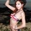 พร้อมส่ง ชุดว่ายน้ำ Bikini ผูกข้าง บราสายคล้องคอลายธงชาติสวยๆ thumbnail 1