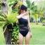 พร้อมส่ง ชุดว่ายน้ำวันพีซไหล่เฉียง สีดำสวย แต่งสวยด้วยผ้าซีทรูช่วงกลางลำตัวสุดเซ็กซี่ thumbnail 2