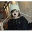 หมวกไหมพรมแฟชั่นเกาหลีพร้อมส่ง ทรงดีไซต์เก๋ ทรงหูแมว ลายกากบาท ปิดหูแต่งเชือกห้อย 2 ข้าง สีขาว thumbnail 2