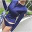 ชุดว่ายน้ำแขนยาว สีน้ำเงินซิปหน้า+กางเกงบิกินี่ thumbnail 1