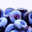 ลูกปัดแก้ว มีรู สีฟ้า ลายคลื่น ทรงล้อรถ ขนาด M กว้าง 14 มิล x ยาว 6 มิล x รู 6 มิล มิล thumbnail 1