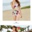 พร้อมส่ง ชุดว่ายน้ำเอวสูง สีชมพู ลายดอกไม้สวยๆ thumbnail 16