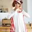 เสื้อคลุมท้องแขนยาว ลายอินเทรน : สีขาว รหัส SH132 thumbnail 2