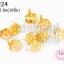 เป็กติดเสื้อ ดอกไม้ สีทอง 12X12 มิล(10ชิ้น) thumbnail 1
