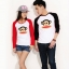 เสื้อแขนยาวคู่รัก ชาย เสื้อแขนยาวคู่รัก แขนสีดำ +หญิง เสื้อแขนยาวคู่รัก สีขาว แขนสีแดง แต่งสกรีน ลิงตรงกลาง +พร้อมส่ง+ thumbnail 1