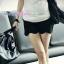 กางเกงคลุมท้องขาสั้นทรงขอบโค้งเว้า สีดำ : Size XL รหัส PN035 thumbnail 1