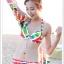 พร้อมส่ง ชุดว่ายน้ำคู่รัก บิกินี่ เซ็ต 3 ชิ้น colorful สีสันสดใส (บรา+บิกินี่+ผ้าคลุมซีทรู) thumbnail 18