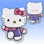 ลูกโป่งฟลอย์นำเข้า Hello Kitty Pink & Purple / Item No. AG-16800 แบรนด์ Anagram ของแท้ thumbnail 3