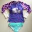 พร้อมส่ง ชุดว่ายน้ำแขนยาว สีสันสดใส เสื้อโทนชมพูม่วง บิกินี่สีฟ้าสวยๆ thumbnail 6