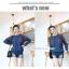 เสื้อคลุมท้องแขนยาว ไหล่ลายจุดพื้นน้ำตาล : สีน้ำเงิน รหัส SH193 thumbnail 2