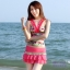 พร้อมส่ง ชุดว่ายน้ำ Tankini เซ็ต 3 ชิ้น โทนสีชมพูแดงลายสวย กระโปรงแต่งระบายน่ารัก thumbnail 1