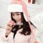 หมวกแฟชั่นเกาหลีพร้อมส่ง ปิดหูครอบหัว เอสกิโม่ปิดหูมีจุกด้านบน กันหนาวหิมะ สีชมพู thumbnail 4