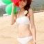 PRE ชุดว่ายน้ำสไตล์เจ้าสาว บิกินี่สีขาว พร้อมชุดคลุมลายลูกไม้ซ้อนๆ หลายชั้นสวยหวาน thumbnail 4