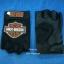 ถุงมือมอเตอร์ไซค์หนัง+ผ้า แบบครึ่งมือ Harley Davidson thumbnail 2