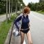 ชุดว่ายน้ำแขนยาว สีน้ำเงินซิปหน้า+กางเกงบิกินี่ thumbnail 3
