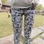 กางเกงผ้าคอตตอนขาวยาว ลาย BOHEMIAN สีดำ : SIZE M รหัส PN181 thumbnail 8