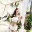 พร้อมส่ง ชุดว่ายน้ำบิกินี่ทูพีซ สายคล้องคอ สีขาวสวย บรา+กางเกงกระโปรงแต่งระบายน่ารัก thumbnail 3