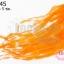 ขนนกกระจอกเทศมีริบบิ้น สีส้ม (ยาว 5 ซม.) thumbnail 1