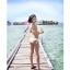พร้อมส่ง ชุดว่ายน้ำบิกินี่ทูพีช สายคล้องคอ กางเกงแต่งระบายสวยๆ thumbnail 10