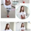 เสื้อคลุมท้องแขนสั้น ลายกระต่ายติดโบว์ : สีขาว รหัส SH016 thumbnail 3