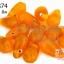 ลูกปัดแก้ว ทรงหยดน้ำ สีส้มเจียรเหลี่ยม 10x15 มิล (1ขีด/100กรัม) thumbnail 1