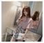 เสื้อแฟชั่นเกาหลี แขน 2 ส่วนแต่งระบายใหญ่ สวยเก๋ สีชมพูอ่อน + สร้อยคอ thumbnail 4