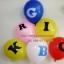 """ลูกโป่งกลมพิมพ์ลาย ตัวหนังสือ A-Z ไซส์ 12 นิ้ว จำนวน 1 ใบ (Round Balloons 12"""" - Printing Letter A-Z latex balloons) thumbnail 2"""