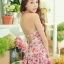 PRE ชุดว่ายน้ำวันพีซ สไตล์วินเทจ floral สวยๆ กระโปรงระบาย ด้านในเปนกางเกงขาสั้น thumbnail 1