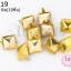 เป็กติดเสื้อ ทรงสี่เหลี่ยม สีทอง 11X11 มิล(10ชิ้น) thumbnail 1