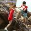 เสื้อคู่รัก ชายเสื้อยืดคอกลม + หญิงเดรสคอปกแขนกุด แต่งสีแดงดำขาว +พร้อมส่ง+ thumbnail 3