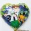 ลูกโป่งฟลอย์ลายเบ็นเท็น ทรงหัวใจ - Ben 10 Heart shape Balloon / Item No. TL-A088 thumbnail 1