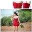พร้อมส่ง ชุดว่ายน้ำวันพีซสีแดง อกประดับโบว์ใหญ่สวยๆ สายสามารถถอดออกเป็นเกาะอกได้ พร้อมกระโปรงแต่งระบายน่ารัก thumbnail 7