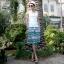 PRE ชุดเดินหาดคู่รัก เดรส แต่งอกระบาย สายคล้องคอหรือผูกโบว์เป็นเกาะอก จั๊มเอว +กางเกงขาสั้นชาย หลายโบฮีเมียนสีสวย thumbnail 16