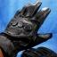 ถุงมือมอเตอร์ไซค์เต็มมือ หนังแท้สีดำ สนับรอบ thumbnail 1