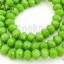 คริสตัลจีน ทรงซาลาเปา สีเขียวอ่อนขุ่น 6มิล(1เส้น) thumbnail 1