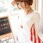 เสื้อคลุมท้องแขนยาว ลายอินเทรน : สีขาว รหัส SH132 thumbnail 5