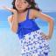 พร้อมส่ง ชุดว่ายน้ำเด็กหญิง tankini เสื้อยาว ลายเชอรี่หวานน่ารัก แต่งโบว์ใหญ่ที่อก กางเกงขาสั้น thumbnail 6