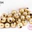 ลูกปัดทองเหลือง กลม 8มิล (1ขีด/100กรัม) thumbnail 1