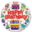 ลูกโป่งฟลอย์นำเข้า Bright Birthday Icons / Item No. AG-26901 แบรนด์ Anagram ของแท้ thumbnail 1