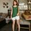 เสื้อคลุมท้องแขนกุด มีกระดุมปรับขนาด : สีเขียว รหัส SH165 thumbnail 9