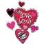 ลูกโป่งฟลอย์นำเข้า Love You Animal Print Cluster / Item No. AG-25532 แบรนด์ Anagram ของแท้ thumbnail 2