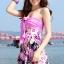 พร้อมส่ง ชุดว่ายน้ำทรงแซก สายคล้องคอ กางเกงแยกชิ้น ลายโบฮีเมียนสวยๆ thumbnail 1