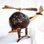 Coconut Shell Lamp Crafts Helicopter โคมไฟกะลามะพร้าวรูปเครื่องบิน thumbnail 1