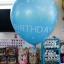 """ลูกโป่งจัมโบ้ สีน้ำเงินพิมพ์ลาย Happy Birthday ขนาด 24 นิ้ว - Round Jumbo Balloon Blue printing HBD 24"""" thumbnail 1"""