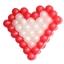 กรอบตาข่ายใส่ลูกโป่งทรงหัวใจ - Balloon Grid Mesh Heart Balloon thumbnail 5