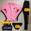 ชุดว่ายน้ำขายาวแขนยาว สีชมพู เซ็ต 4 ชิ้น (สปอร์ตบรา+เสื้อแขนยาว+บิกินี่+ขายาว) thumbnail 11