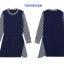 MK9803 เสื้อเปิดให้นมแฟชั่นเกาหลี โทนสีกลม แต่งด้วแขนเสื้อสีขาวสลับดำ thumbnail 6