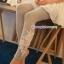 กางเกงผ้าคอตตอนคลุมท้องขายาว ลายไม้ : สีเทา รหัส PN184 thumbnail 10