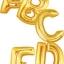 """ลูกโป่งฟลอย์รูปตัวอักษร C สีทอง ไซส์จัมโบ้ 40 นิ้ว - C Letter Shape Foil Balloon Size 40"""" Gold Color thumbnail 7"""